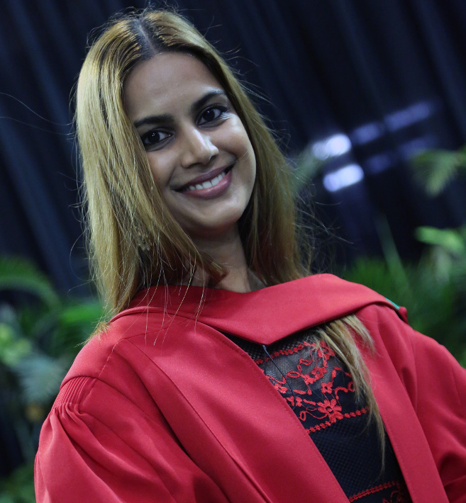 PhD graduate Dr Asheelia Behari researched about Labour Laws for working mothers.