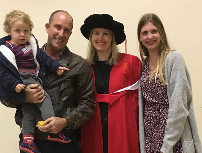 Dr Michelle Hatch with her partner, Jonathan; son, Brandon; and daughter, Lara.