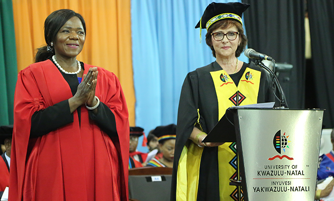 UKZN Confers Honorary Doctorate on Former Public Protector