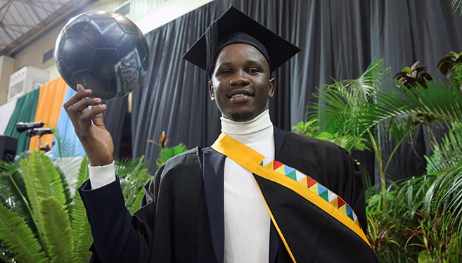 Break from Professional Soccer Pays off for Masters Graduate